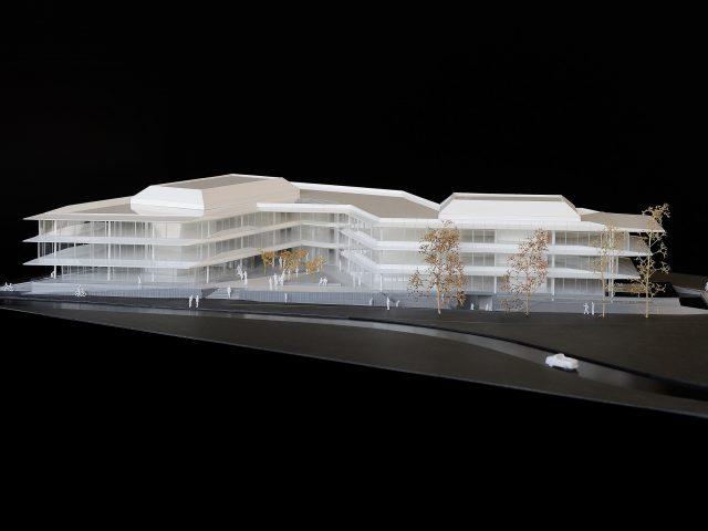 Fotografie van maquette Z0-gebouw door fotograaf Chiel de Nooyer. Foto is gemaakt in Zwitserland. Dit gebouw wordt binnenkort gerealiseerd.