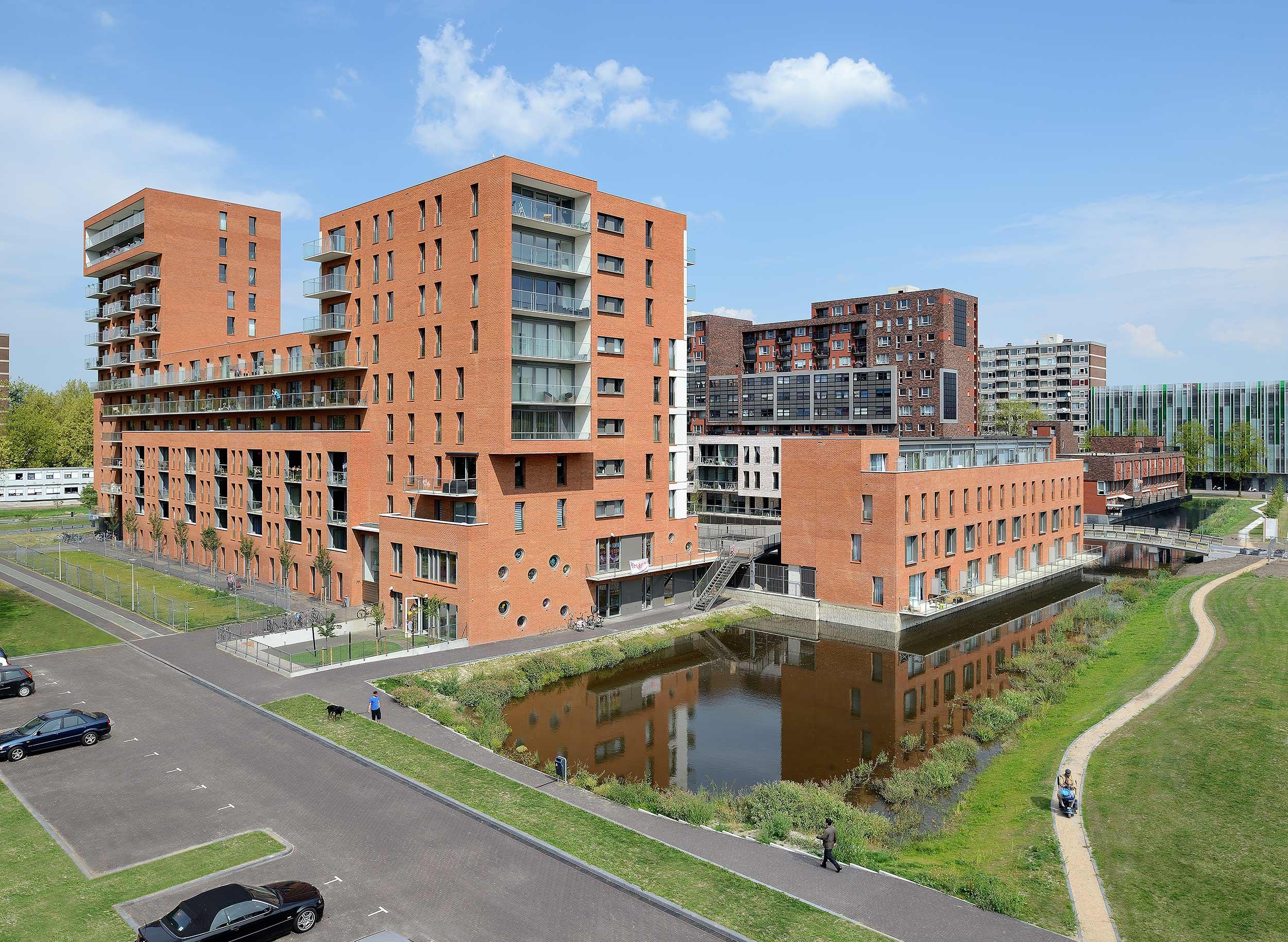 Appartementencomplex 'Amber', Delft - architectuurfotografie Studio de Nooyer