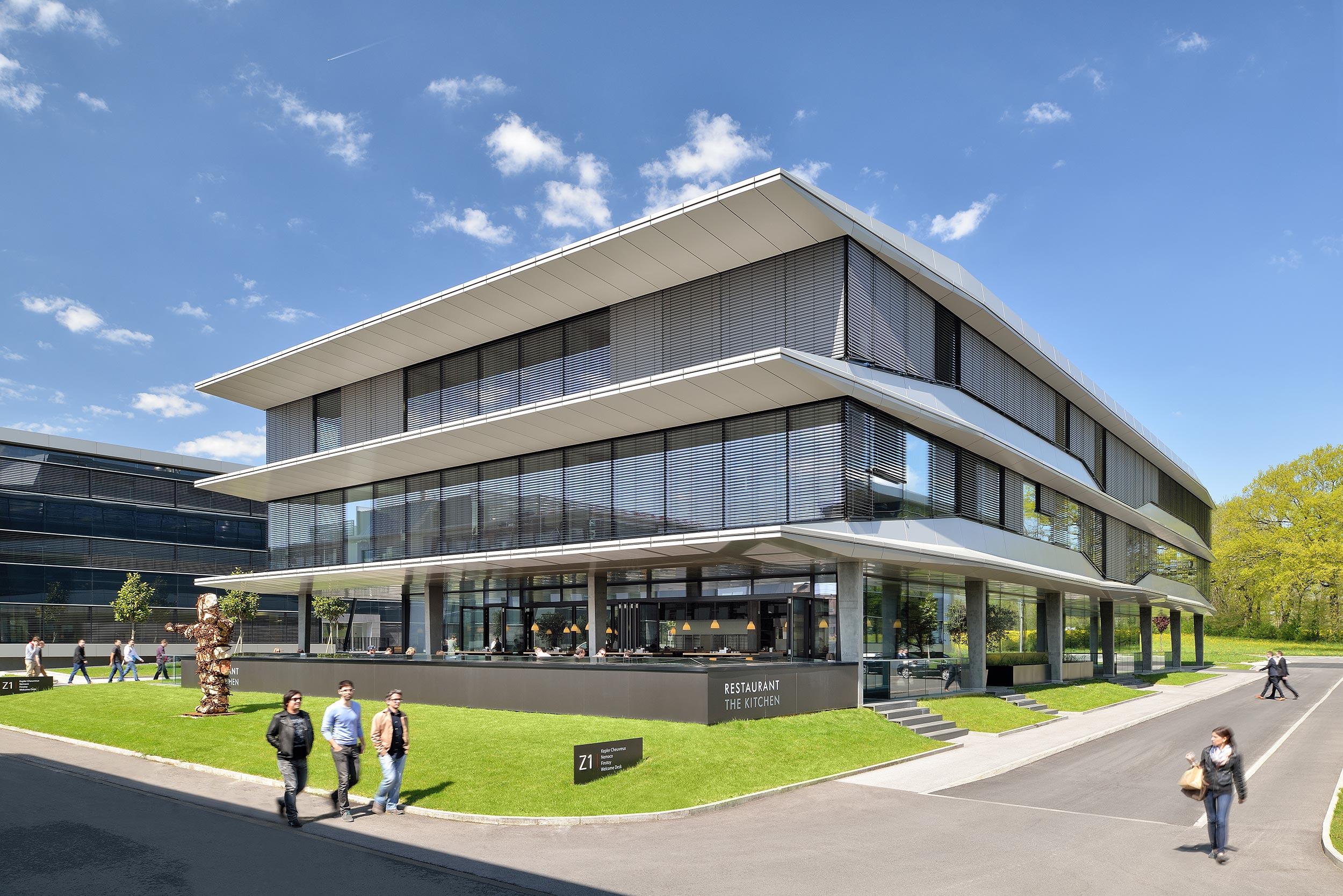 Terre Bonne Park, Zwitserland - fotograaf kantoor en architectuur Chiel de Nooyer