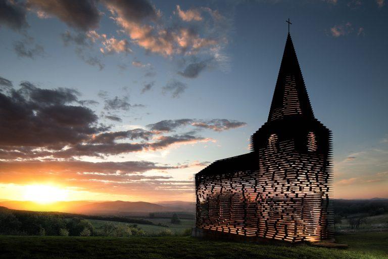 Doorkijk kerk, Borgloon / België - Gijs Van Vaerenbergh