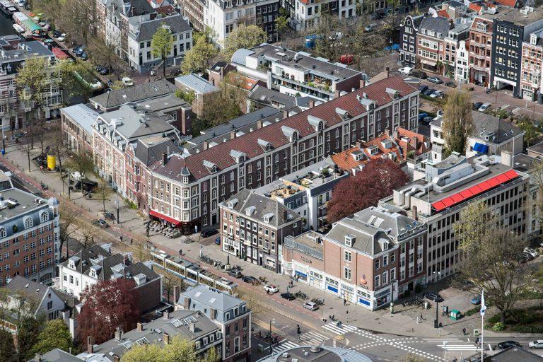 Luchtfotografie Amsterdam - Huidekoperstraat, architectuurfotografie