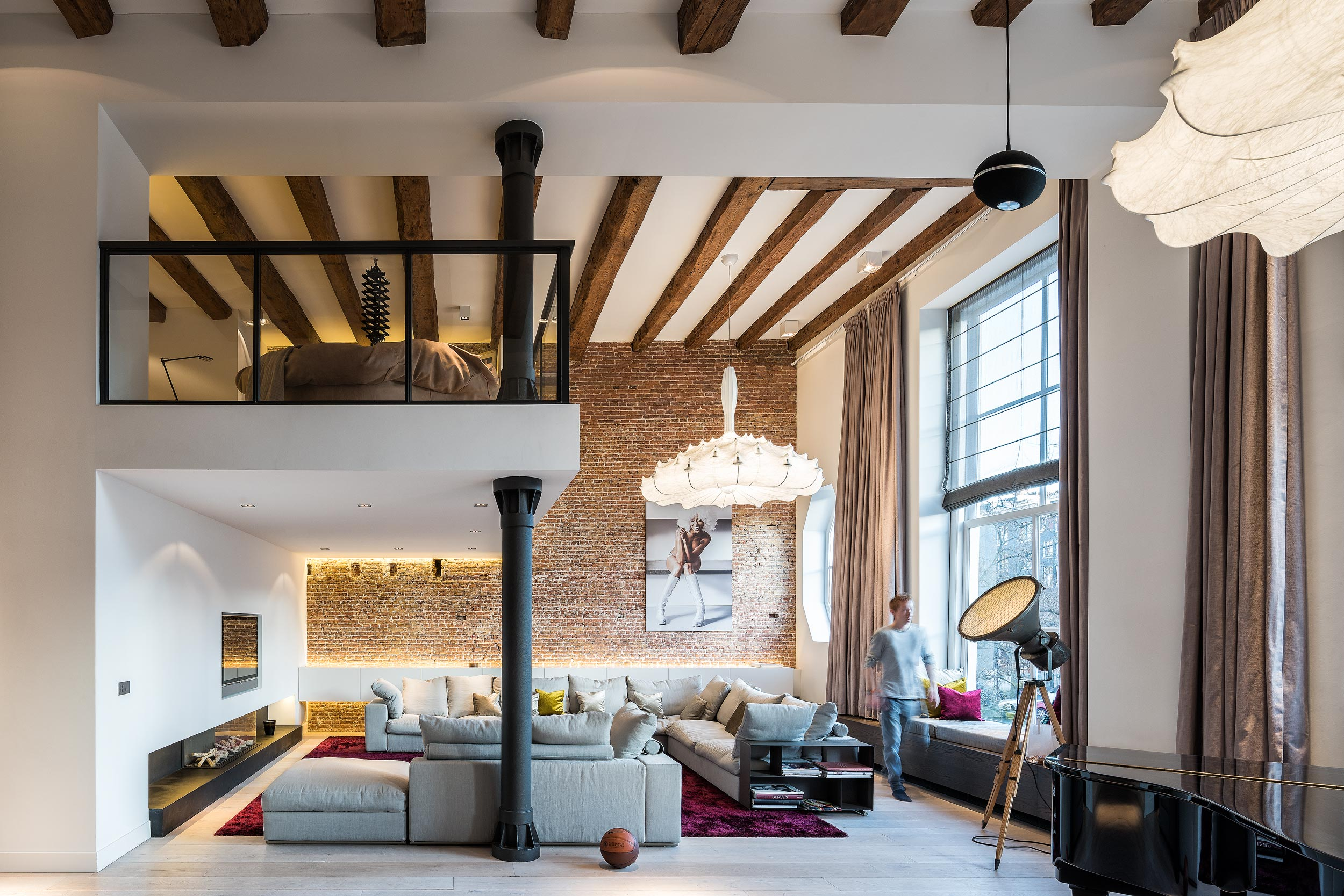 Interieurfotograaf Chiel de Nooyer voor interieurfotografie van grachtenpand in Amsterdam